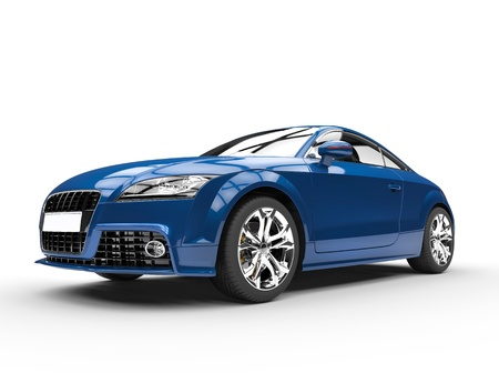 Blue Powerful Car
