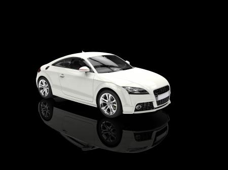 White Powerful Car