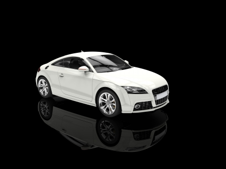 luxury cars: White Powerful Car