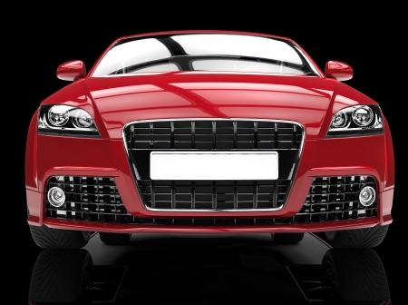 fast car: Red Powerful Car