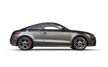 Cool modern metallic car right side view