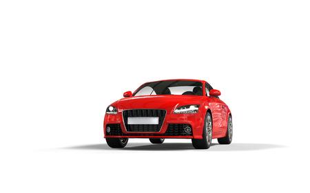Modern red car on white background Standard-Bild