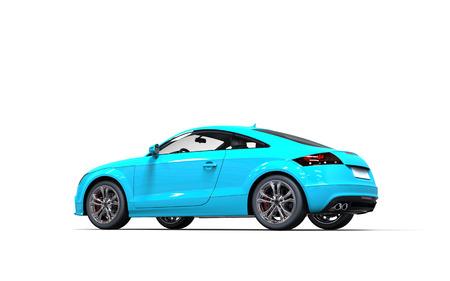 dream car: Coche moderno azul brillante