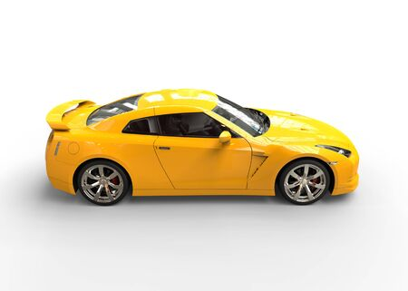 really: Really fast yellow car side view