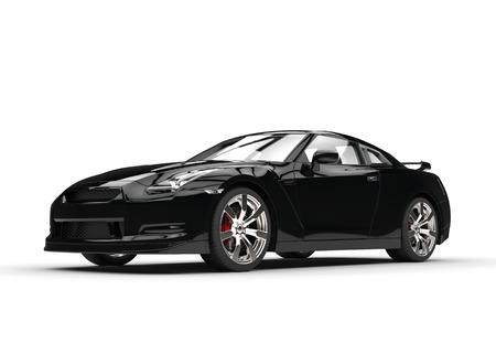 black car: Cool black car Stock Photo