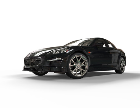 black car: Sports car black front