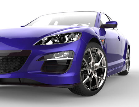 Purple car extreme close-up