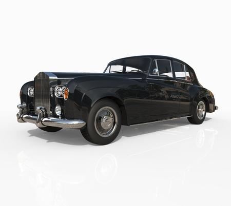 classic car: Classic car black