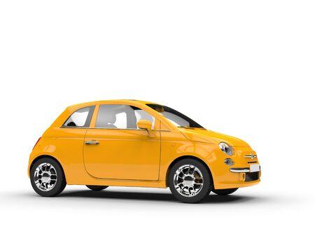 Petite voiture jaune Banque d'images