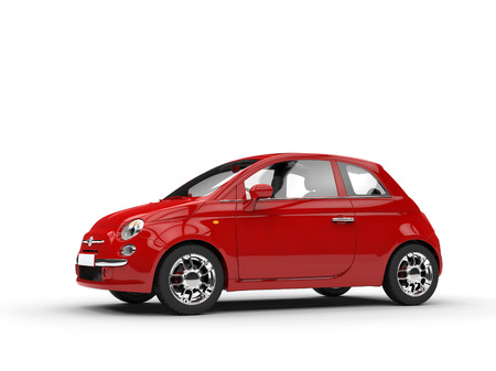 car side: Small red car side