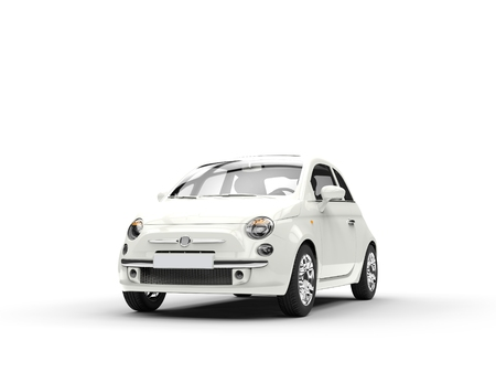 Small economic white car front
