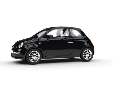 Small black economic car