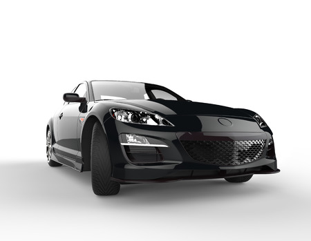 Sports car black front close-up Stock Photo