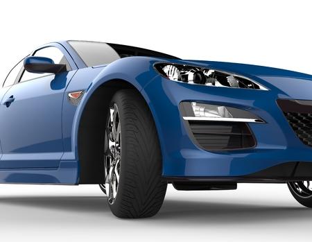 Blue car extreme close-up Standard-Bild