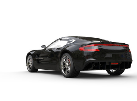 luxury cars: Black luxury sports car on white background. Image shot in ultra high resolution. Stock Photo
