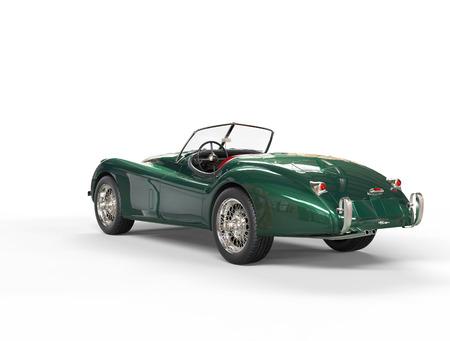 Grüne Oldtimer-Auto auf weißem Hintergrund, erschossen Bild in höchster Auflösung. Standard-Bild - 32078492