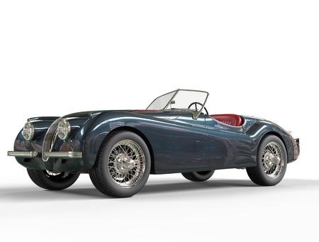 Dark grey vintage car on white backround, image shot in ultra high resolution.