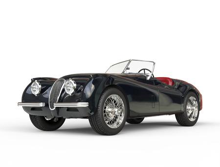 jaguar: Tiro coche negro de la vendimia en fondo blanco, imagen tomada de ultra alta resolución