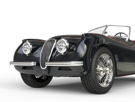 Zwarte vintage auto geschoten op een witte achtergrond, afbeelding schot in ultra hoge resolutie