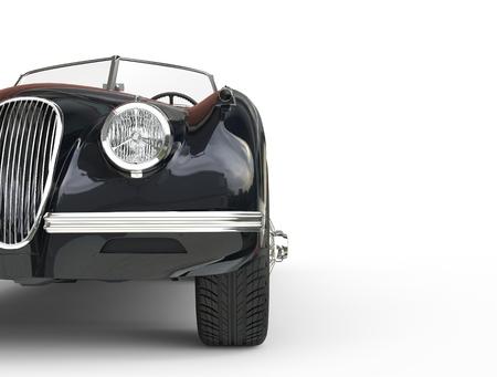 Black vintage car shot on white background, image shot in ultra high resolution Zdjęcie Seryjne
