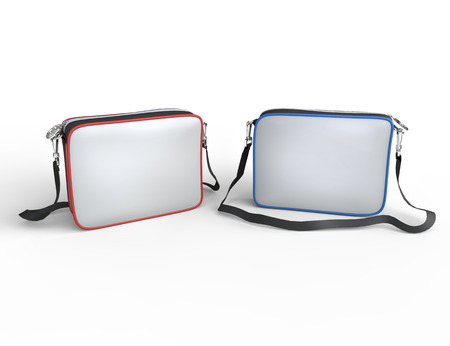 White pocket wwallets on white background, image shot in ultra high resolution. photo