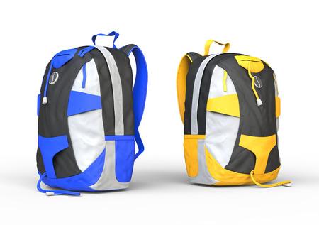Backpacks on white background, image shot in ultra high resolution. Standard-Bild
