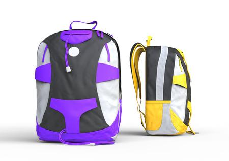 Backpacks on white background, image shot in ultra high resolution. Zdjęcie Seryjne