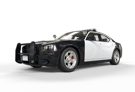 motor cop: Police car without decals on white background, image shot in ultra high resolution.