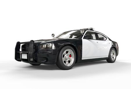 Polizeiwagen ohne Aufkleber auf weißem Hintergrund, erschossen Bild in höchster Auflösung. Standard-Bild - 32078677