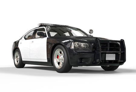 Polizeiwagen ohne Aufkleber auf weißem Hintergrund, erschossen Bild in höchster Auflösung. Standard-Bild - 32078681