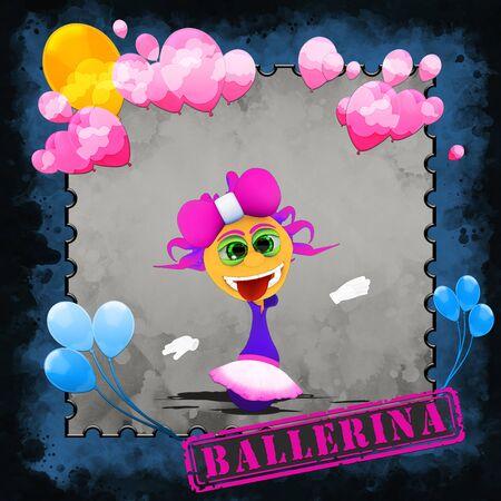 Ballerina in pink and white tutu