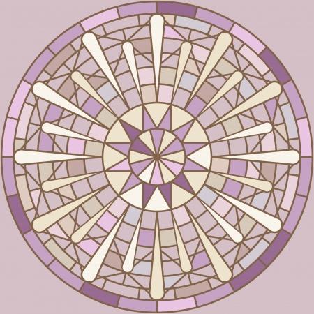 golden daisy: Ornamento del mosaico redondo