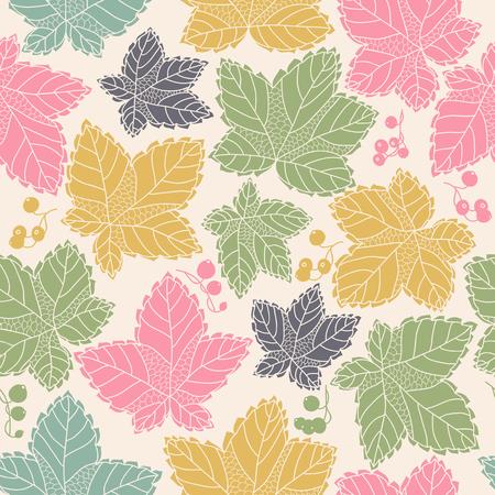 단풍 잎과 열매, 배경과 원활한 패턴