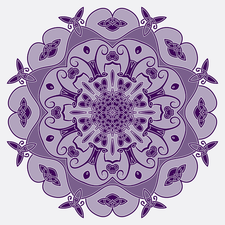 entwined: Ornamental round pattern,  circle background with many entwined details  Illustration