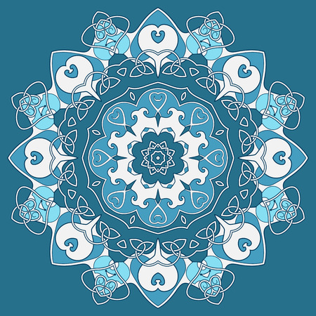 entwined: Ornamental round celtic pattern,  circle background with many entwined details  Looks like crocheting handmade lace