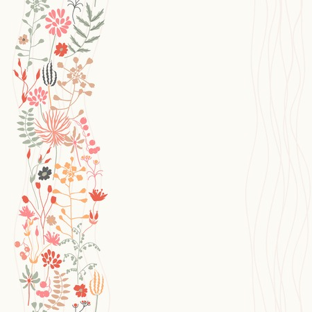 pale colors: Bright floral background. Vertical seamless pattern. In pale colors.