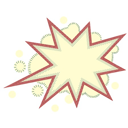 Burst and boom icon in retro style  Vector