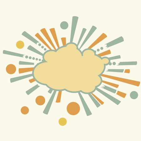 Burst and boom,  explosion cloud in retro style  Vector