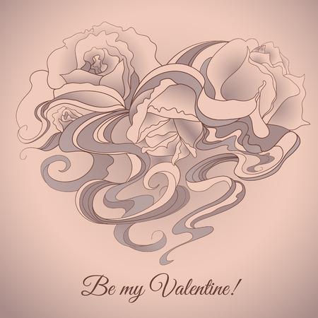 Be my Valentine. Love card.