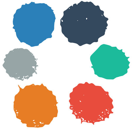 Set of colorful blots. Vector