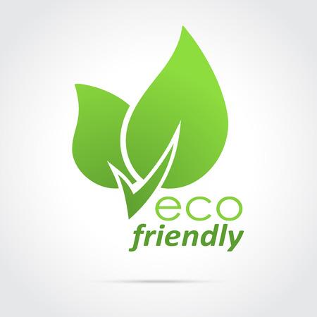 친환경 아이콘 녹색 나뭇잎