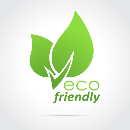 Eco friendly icon green leaves Ilustrace