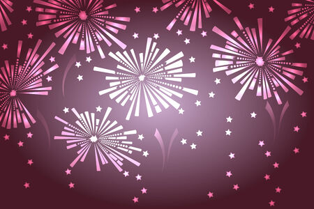Holiday new year fireworks background. Vector