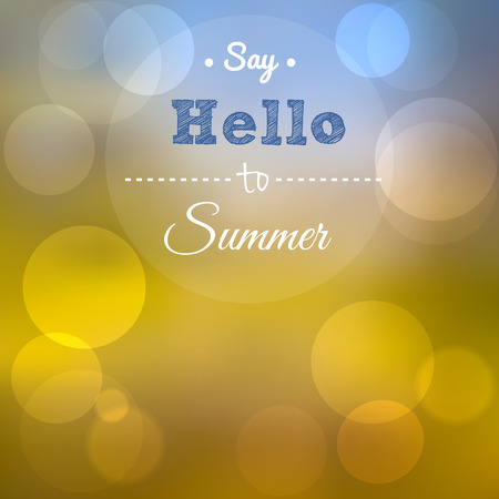 say hello: Say Hello to Summer, summer poster  Illustration