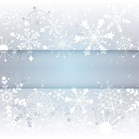 Winter Snowflake Background with Copy Space. Vector