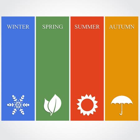 the season: Four season illustration