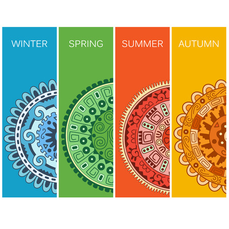 four seasons: Four season illustration