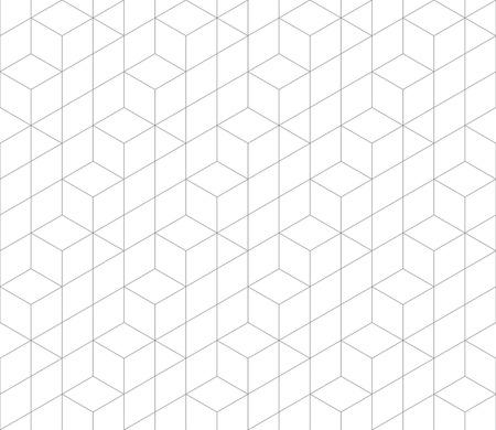 Zeshoekige abstract verbinding vector naadloos patroon