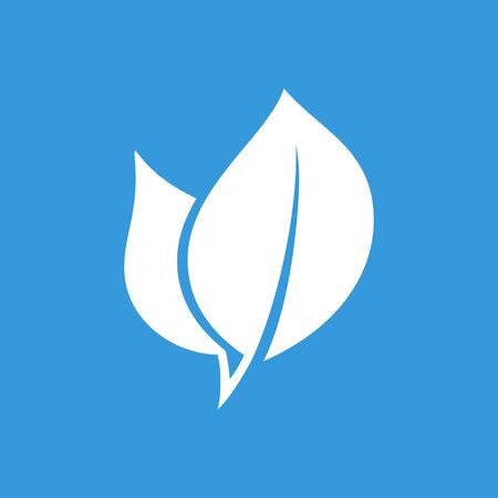 phone symbol: Eco leaf flat  icon Illustration
