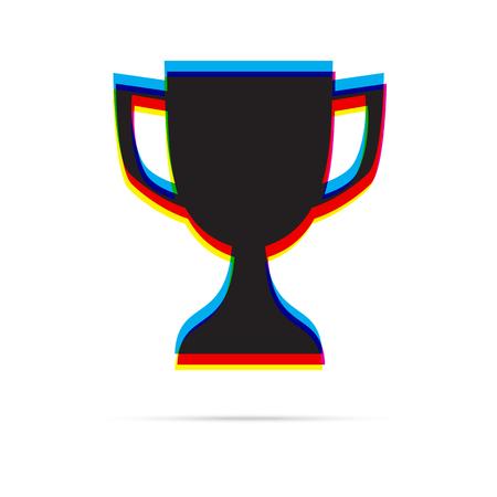 offset: Reward icon with shadow. CMYK offset effect Illustration